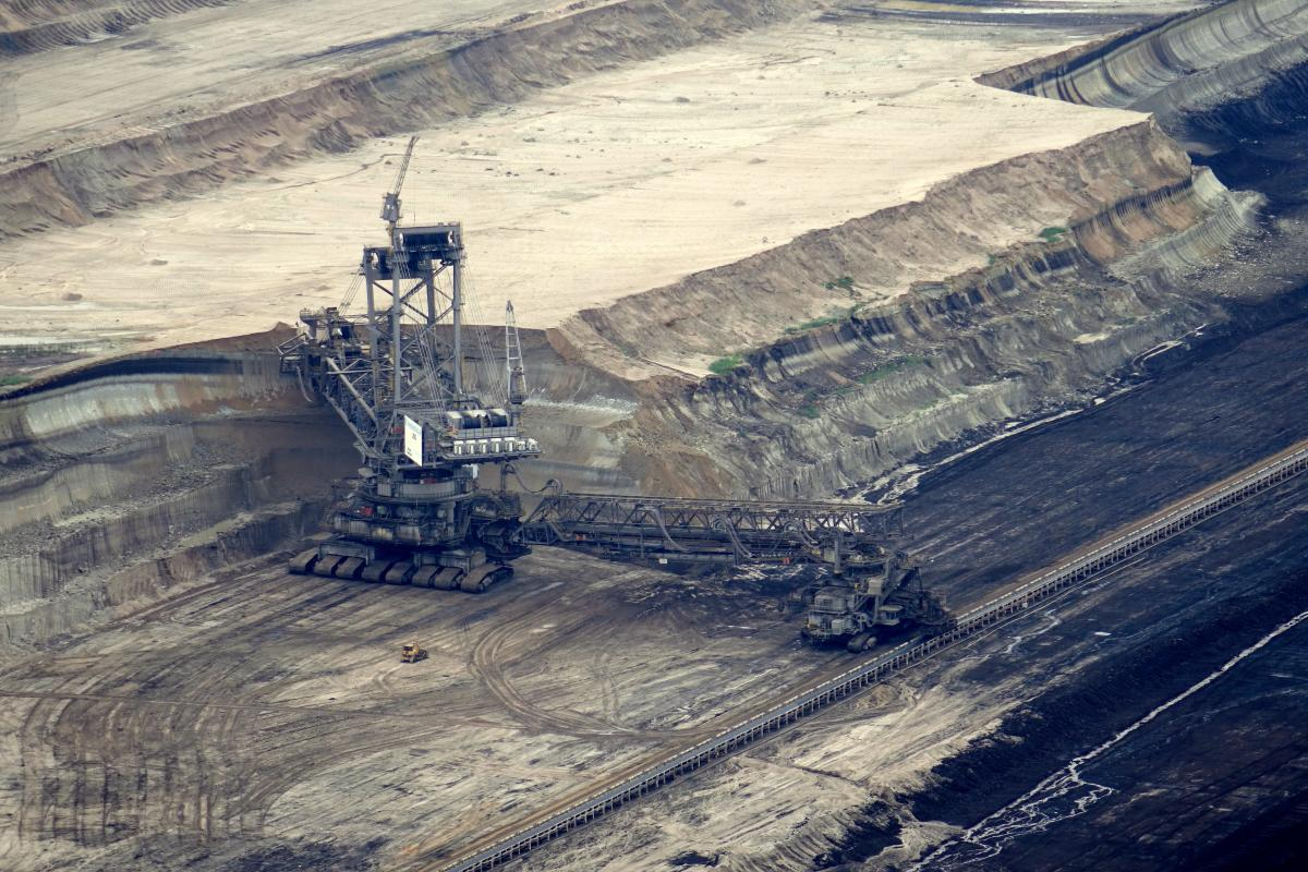 Ariel photo of coal mine